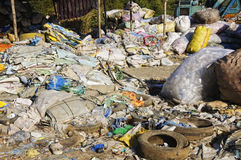 Garbage Dump. Sacks and sacks of refuse in a garbage dump Stock Photo