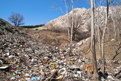 Garbage dump. A view on a local garbage dump Stock Images