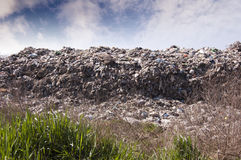 Garbage Dump. Garbage at a rubbish dump in a landfill site with a green, ecology issue Stock Photography