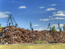 Garbage dump. Full of waste Royalty Free Stock Images