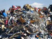 Garbage dump. Full of waste Stock Image