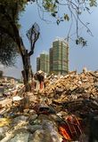 Garbage dump at a construction site in the tourist city of Sanya Stock Photography