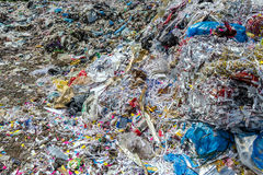 Garbage. Dump in forest, Environmental Eyesore Royalty Free Stock Photography