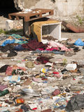 Garbage dump. Heap of rubbish on landfill Stock Image
