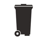 Garbage dump icon illustrated. On white background Royalty Free Stock Photography