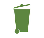 Garbage dump icon illustrated. On white background Royalty Free Stock Images