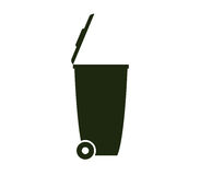 Garbage dump icon illustrated. On white background Royalty Free Stock Photo