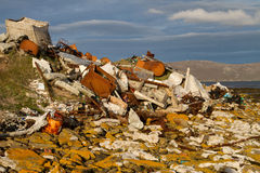Garbage dump. Illegal Garbage dump, falkland islands Stock Image