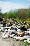 Garbage dump on the nature Stock Photos