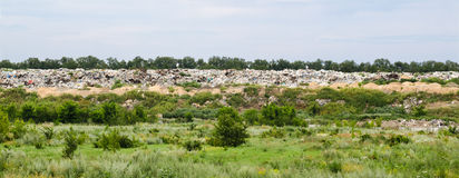 Garbage dump, pollution Royalty Free Stock Images