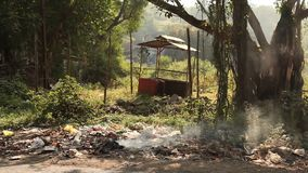Garbage dump at rural area.  stock footage