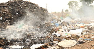 Garbage dump at rural area.  stock video footage