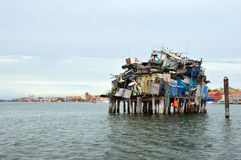 Garbage dump at sea in Chioggia, near Venice, Italy Stock Photography