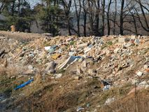 Garbage dump, South Bohemia. Czech Republic Stock Images