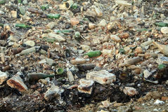 Garbage dump waste with broken bottles. Large garbage dump waste with broken bottles Stock Images