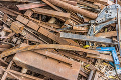 Garbage dump of waste metals Stock Images