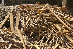 The garbage dump of wood Stock Images
