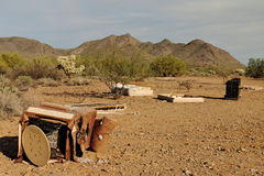 Garbage Dumped in Sonoran Desert. Garbage dumped in the Sonoran desert is photographed just north of Phoenix, Arizona, USA Royalty Free Stock Image