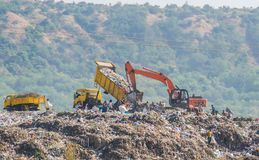 Garbage Dump Landfill Site royalty free stock photography