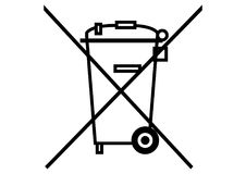 Garbage dumpster. Black and white icon Vector format available AI Stock Photography