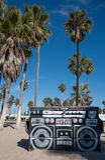 Garbage dumpster graffiti Venice Beach Royalty Free Stock Photos