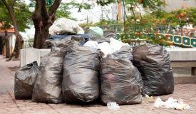 Garbage everywhere Stock Image