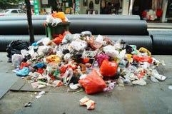 Garbage everywhere Stock Photo