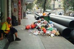 Garbage everywhere Stock Photos