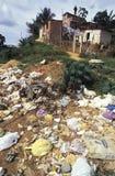 Garbage in favela, Brazil. Stock Images