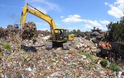 Garbage final landfill Royalty Free Stock Image