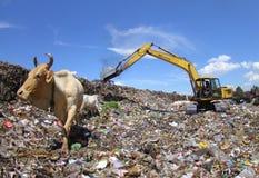 Garbage final landfill Stock Photo