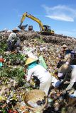 Garbage final landfill Royalty Free Stock Photos