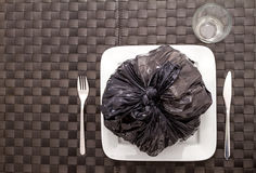 Garbage food. Which damage health stock photo