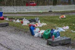 Garbage on Fredriksten fortress Stock Photo