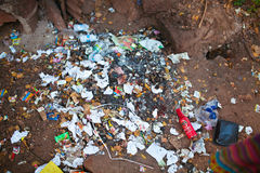 Garbage in Goa Royalty Free Stock Photo