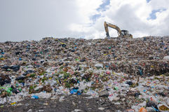 Garbage heap. This picture is a big garbage heap in Thailand Stock Photography
