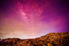 garbage heap under milky way Stock Images