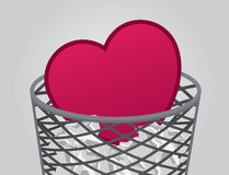 Garbage Heart Royalty Free Stock Photo