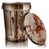 Garbage. High resolution 3D rendering of a garbage can Stock Images