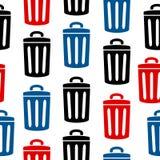 Garbage icon seamless pattern Stock Images