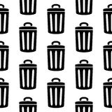 Garbage icon seamless pattern Royalty Free Stock Images