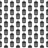 Garbage icon seamless pattern Royalty Free Stock Photo