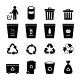 Garbage Icon. Garbage set for your design Royalty Free Stock Images