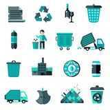 Garbage Icons Set Stock Photo