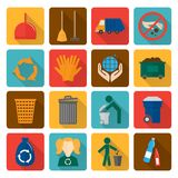 Garbage icons set Royalty Free Stock Photo