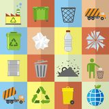 Garbage icons set Stock Image