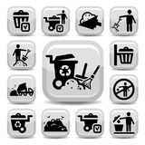 Garbage icons set Stock Photos