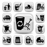 Garbage icons Royalty Free Stock Image