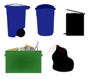 Garbage Illustrations Royalty Free Stock Photos