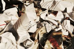 Garbage and information, background Royalty Free Stock Image